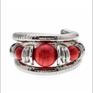 Silver Boho Ethnic Bangle Wrap Bracelet